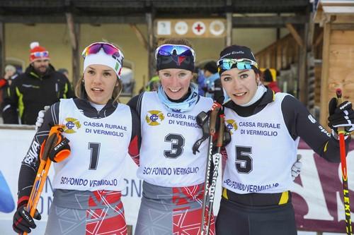 Il podio aspiranti con Nicole Monsorno terza (foto Becchis)