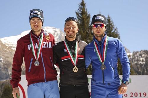 Il podio under 23 con Simone Daprà e Paolo Ventura sul podio