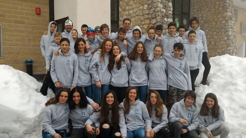 Il team Trentino fondo della categoria ragazzi