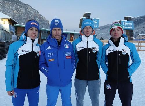 Givanni Bresadola, Domenico Mariotti, Gabriele Monteleone e Gabriele Zambelli