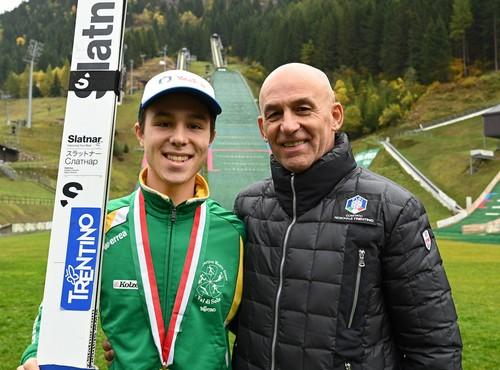 Giovanni Bresadola con il presidente Fisi Tiziano Mellarini