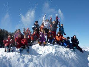 I giovani sciatori dello Sci club Levico