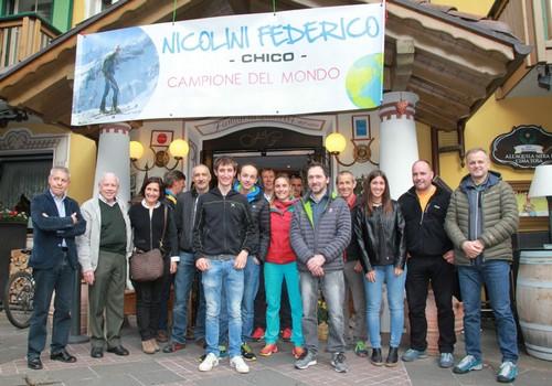 La festa a Molveno per Federico Nicolini