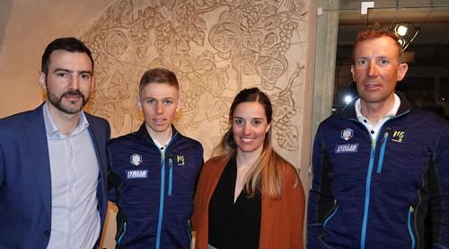 Magnini e Bendetti con il sindaco di Tre Ville e Letizia Volta (3Tre)