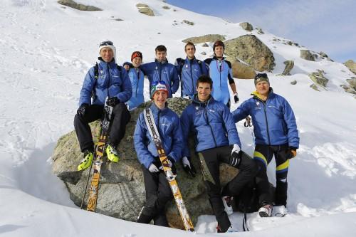 La squadra di sci alpinismo