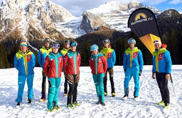 La squadra di skialp Trentino - La Sportiva 2020/2021