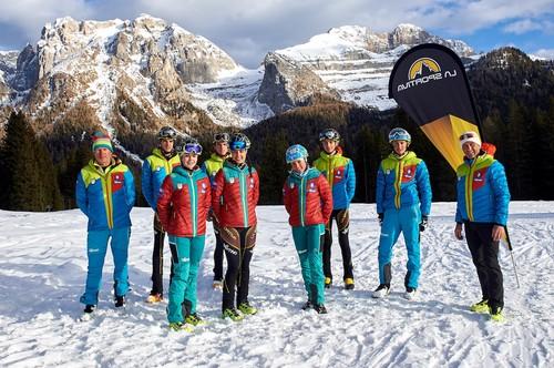 Il team Trentino La Sportiva di sci alpinismo