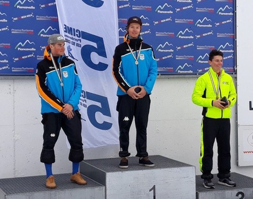 Ecco i due trentini sul podio: Deromedis e Wolfsgruber