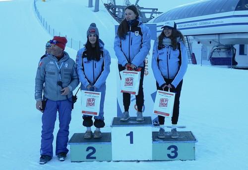 Il podio di gara 1 femminile