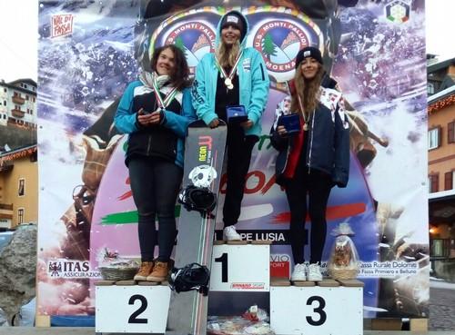 Petra Basteri, seconda nel banked slalom aspiranti