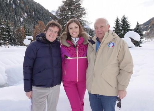 Alice Rachele Arlanch con Sergio Pezzola, direttore Rai 3 Trentino e Angelo Dalpez della FISI
