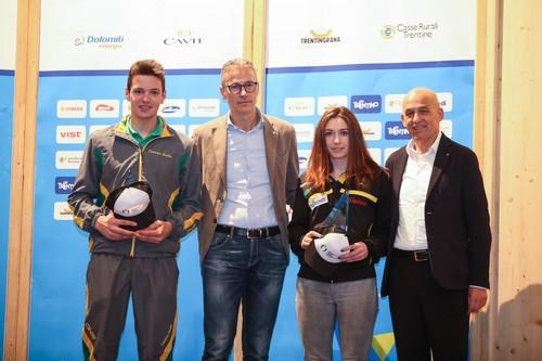 Gli atleti dell'anno Tommaso Giacomel e Nicole Monsorno