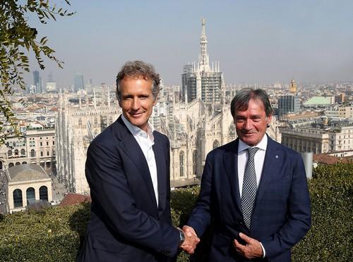 Alessandro Benetton con Flavio Roda a Milano