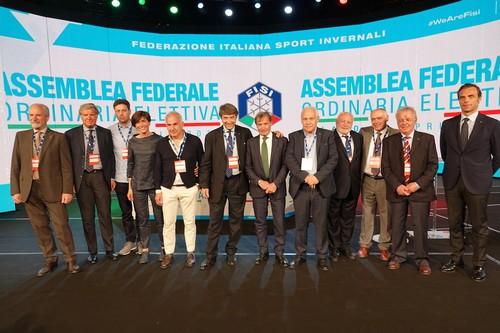 Il consiglio della Fisi neo eletto a MIlano