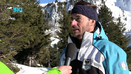 Il responsabile allenatori alpino Vicenzi al microfono di Ski Trentino