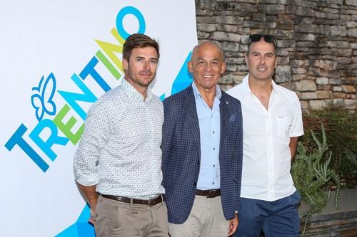 Tiziano Mellarini con Enrico Vicenzi e Sepp Chenetti (foto Merler)