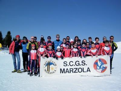Una foto dello Sci club Marzola