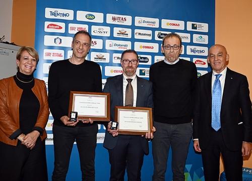 I dirigenti degli sci club Strigno e Mezzocorona premiati dalle autorità
