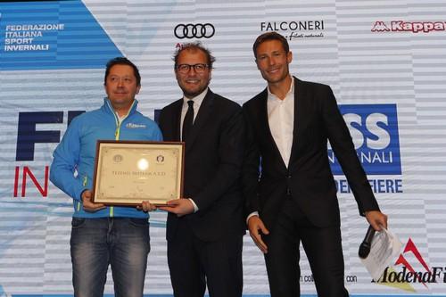 La premiazione del Tezenis Ski Team