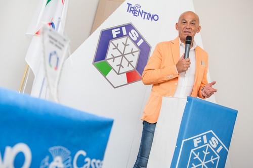 Il nuovo presidente FISI Tiziano Mellarini (foto Merler)