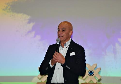 Tiziano Mellarini nel suo intervento a Milano