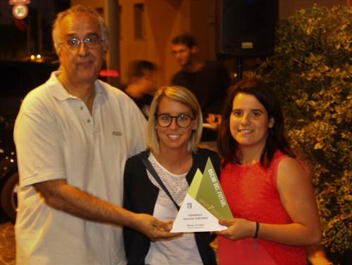 Monia Fichera, prima da destra, miglior portiere campionato femminile con Marco Rinaldi e Valentina Manica