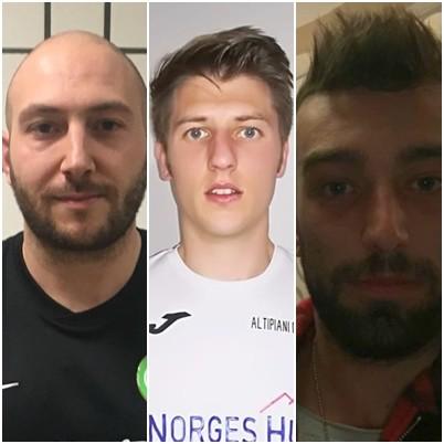 I tre giocatori in lotta per la vittoria: Delle Cave, Nicolussi Paolaz e Serafini