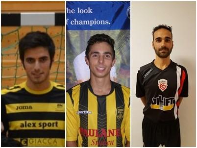 I tre giocatori che si contederanno il premio: De Sarro, Lazzarini e Zoffreo