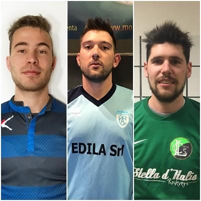 I tre portieri candidati al successo: Bagatoli, Bertera e Togni