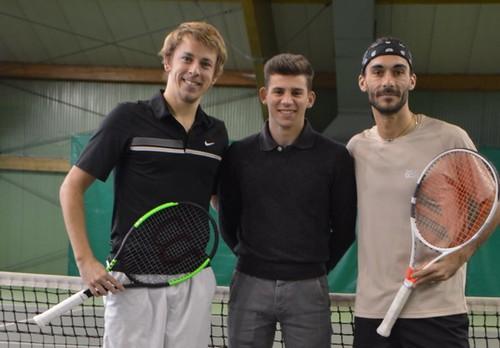 Jack e Jankovits con il l'arbitro di Sedia Luca Laugero