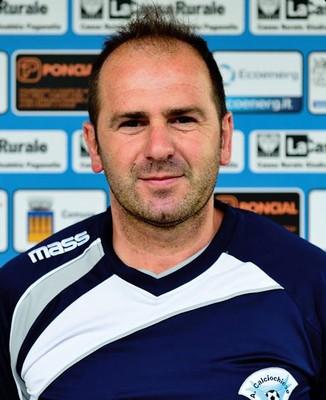 Il mister biancazzurro Sergio Pelizzari