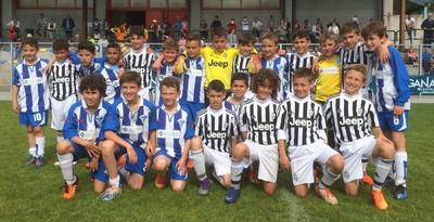 I minicalciatori di Calciochiese e Juventus