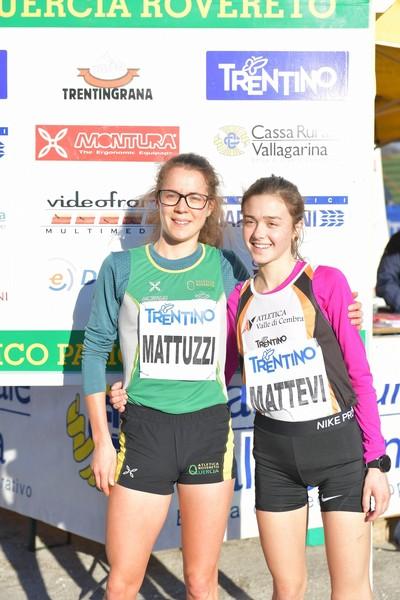 Isabel Mattuzzi (quarta) e Angela Mattevi (terza) all'edizione 2019 del Cross