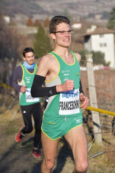 Emanuele Franceschini, sullo sfondo Sebastiano Andreatta (foto M. Volcan)