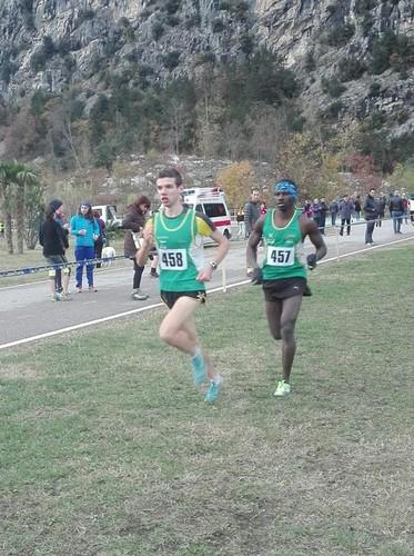 Marco Anesi e Pornon Toure rispettivamente primo e secondo nella gara U20 del Cross di Dro