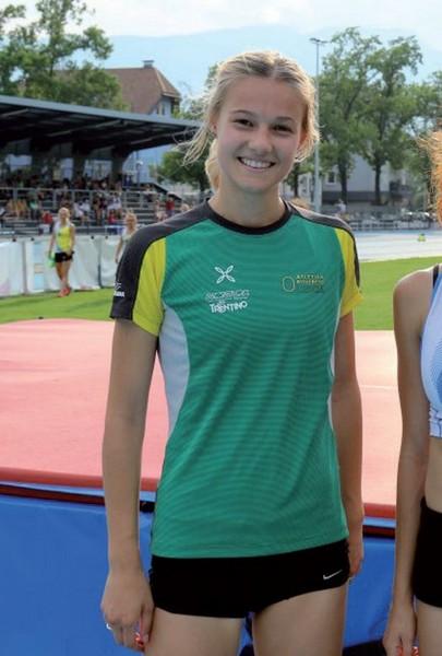 Giorgia Niero, seconda nell'alto U23