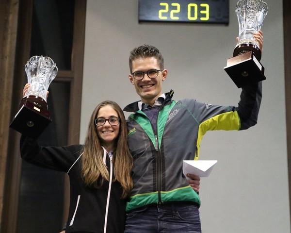 I vincitori del Grand Prix Montagne con Arianna Pasero e il nostro Emanuele Franceschini
