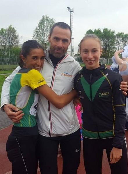Elisa Ducoli, il tecnico Martino Favalli e Sophia Favalli