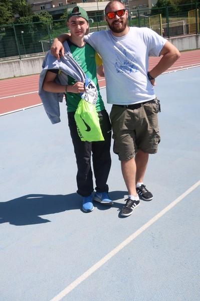 Geremia Zenorini con il tecnico Guido Benamati