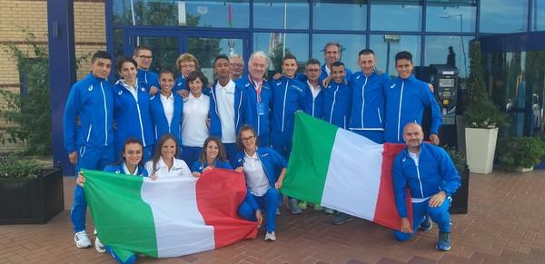 La delegazione della Coppa Europa 10.000m, con Isabel Mattuzzi anche il tecnico Dimitri Giordani