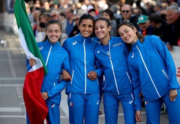 La formazione U20 donne, con la nostra Elisa Ducoli, vince la classifica a squadre ad Oderzo (foto Colombo)