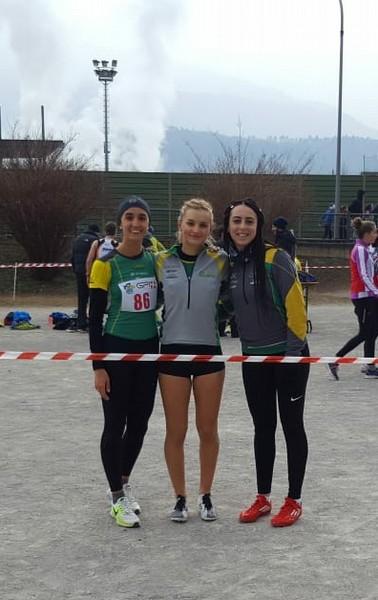 La squadra Juniores donne, (da sx) Elisa Ducoli, Sofia Filippini e Vanessa Piazzola
