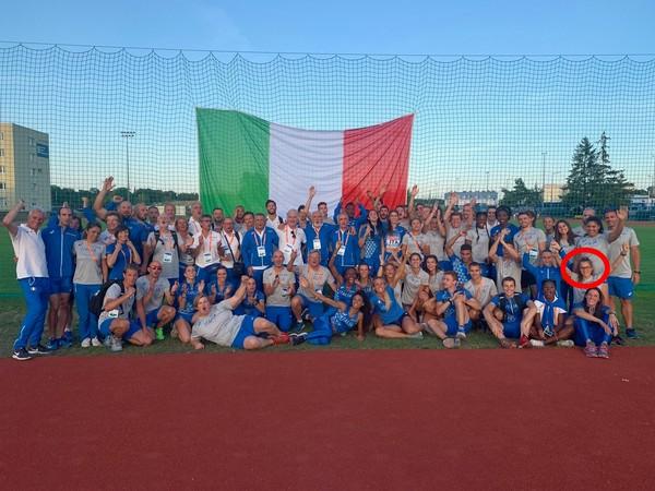 La squadra italiana - con la nostra Isabel - che a Bydgoszc (POL) ha conquistato il quarto posto in Europa