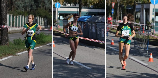 Le atlete vice-campionesse a squadre di marcia (foto Facchini)