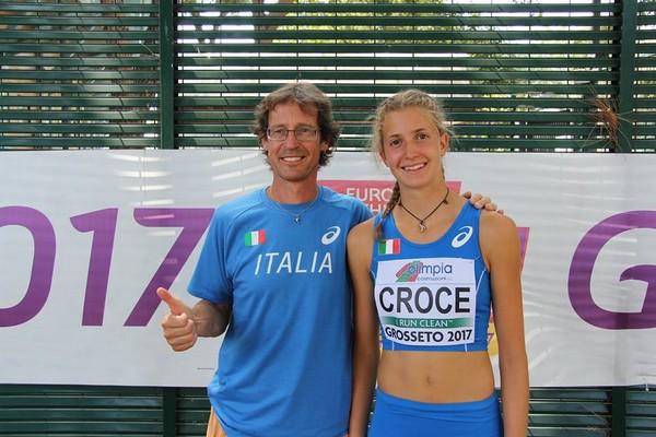 Pamela Croce con il tecnico prof. Mauro Pancheri