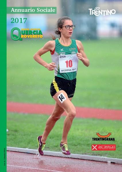 La copertina dell'Annuario Sociale con l'atleta dell'anno Isabel Mattuzzi (foto FIDAL/Colombo)