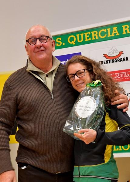 Isabel Mattuzzi, Atleta dell'anno 2017, con il presidente Carlo Giordani