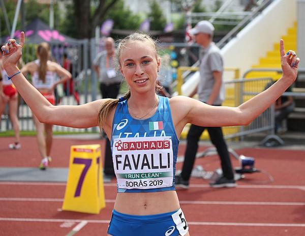 Sophia Favalli, finalista negli 800m (foto FIDAL/Colombo)