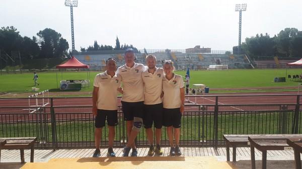 I tecnici (da sx) Roberto Miorandi, Fabrizio Pedri, Michele Bais e Elisa Canal che seguono gli atleti FISDIR