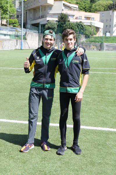 Davide Barozzi con Simone Valduga (a dx)